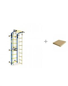 Шведская стенка Strong Kid Wall стандарт и мат 4 складной 100х100х10 см ILGC group Kampfer