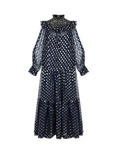 Черное шелковое платье Parosh