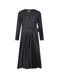 Темно серое платье из смесовой шерсти Parosh