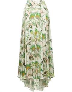 Пышная юбка с тропическим принтом Adriana iglesias