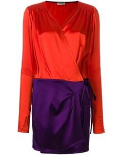 Короткое платье с запахом с панельным дизайном Attico