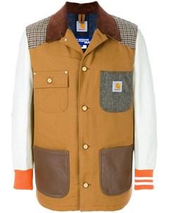 Лоскутная куртка бомбер Junya watanabe comme des garçons man