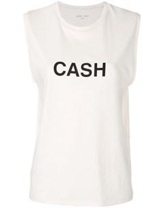 Топ с принтом Cash 6397