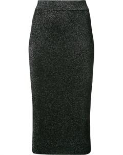 Приталенная юбка миди с эффектом металлик Cushnie et ochs