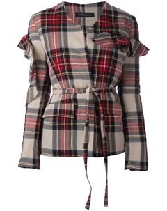 Куртка в клетку с оборками на рукавах Barbara bologna