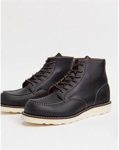 Черные кожаные ботинки высотой 6 дюймов classic Red wing