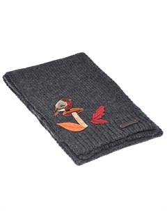 Серый шарф с аппликацией детский Dolce&gabbana