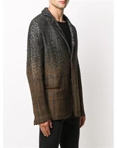 Однобортный пиджак с узором шеврон Avant toi