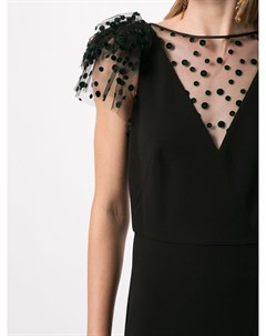 Вечернее платье с сетчатой вставкой Paule ka