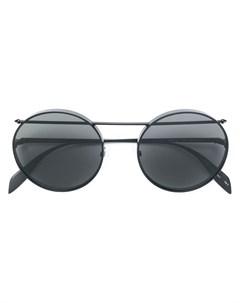 Солнцезащитные очки авиаторы в круглой оправе Alexander mcqueen eyewear