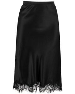 Атласная юбка с кружевным подолом Gold hawk