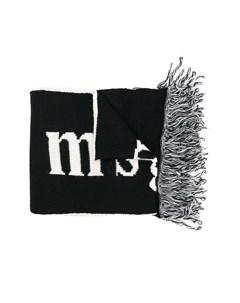 Трикотажный шарф с логотипом Msgm kids