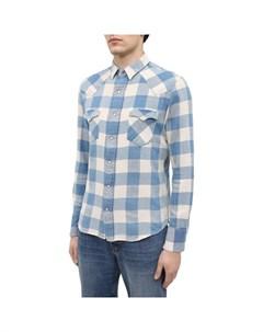 Рубашка из хлопка и льна Rrl