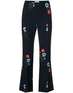 Расклешенные брюки с цветочным принтом Sonia by sonia rykiel