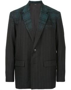 Клетчато полосатый пиджак Taakk