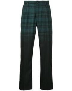 Клетчато полосатые брюки Taakk
