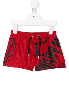 Плавки шорты с кулиской и логотипом Philipp plein junior