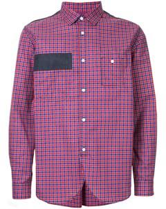 Рубашка в клетку с нашивкой Junya watanabe comme des garçons man