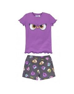 Пижама для девочки футболка шорты Angry Birds Bossa nova