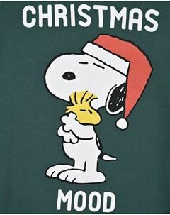 Зеленый свитшот с принтом Christmas Mood детский Saint barth