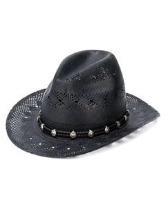 Соломенная ковбойская шляпа Saint laurent