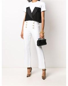 Укороченные расклешенные брюки Balmain
