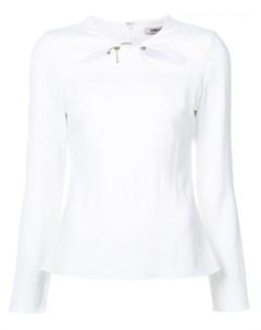 Блузка с декоративными прорезями на груди Cushnie et ochs