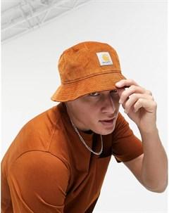 Вельветовая панама темно оранжевого цвета Carhartt wip