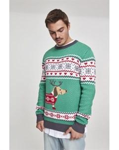 Свитер Sausage Dog Christmas Sweater Treegreen White Red Dark Grey L Urban classics