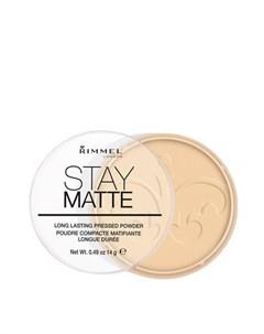 Пудра для лица Stay Matte Powder Цвет 6 Champagne Шампанское Rimmel