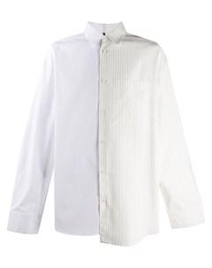 Рубашка с полосатой вставкой Oamc