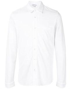 Рубашка свободного кроя из ткани пике Sunspel