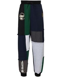 Зауженные спортивные брюки в технике пэчворк Liam hodges
