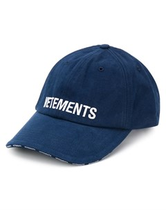 Бейсболка с логотипом Vetements