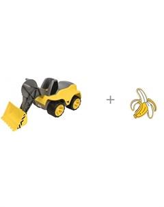 Каталка Погрузчик Power worker maxi и значок Банан Kawaii Factory Big