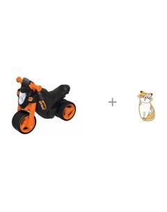 Каталка мотоцикл Sport Bike и значок Котейка Kawaii Factory Big