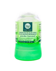 Дезодорант кристалл You I Alum Crystal Deodorant Green Tea Aloe Vera Thai house of nature