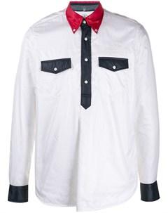 Непродуваемая рубашка в стиле колор блок Takahiromiyashita the soloist