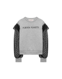 Хлопковый свитшот Alberta ferretti junior