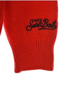 Красный джемпер с принтом Christmas Mood детский Saint barth