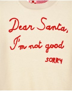 Джемпер с декором Dear Santa Im not good детский Saint barth