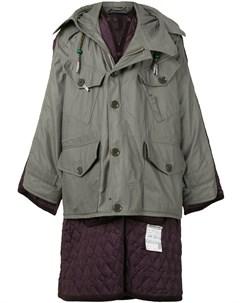 Стеганое пальто в стиле милитари Maison mihara yasuhiro