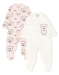 Комплект из двух пижам с принтом Emporio armani kids