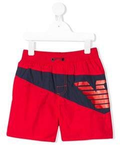 Плавки шорты с логотипом Emporio armani kids