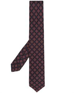 Галстук с геометричной вышивкой Barba