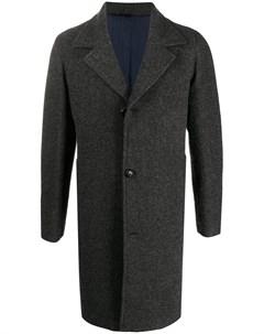 Однобортное пальто с заостренными лацканами Mp  massimo piombo