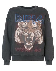Толстовка с принтом тигра и логотипа Anine bing