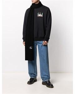 Шарф с нашивкой логотипом Calvin klein jeans