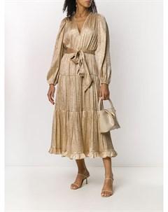 Ярусное платье миди с поясом Ulla johnson