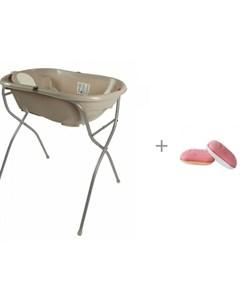 Подставка для ванночек Onda onda evolution и мочалка Uviton для купания Утенок 0008 03 Ok baby